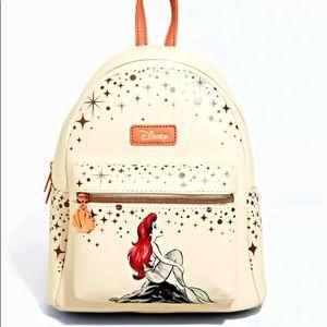 Disney Loungefly Little Mermaid Rose Gold Backpack